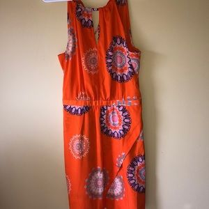 Charming Charlie orange pattern dress